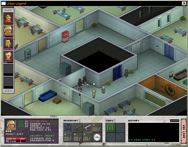 Isometric turn-based squad-based strategy. Action takes place in 2127.